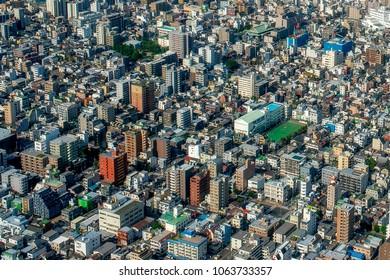 Aerial view of metropolis