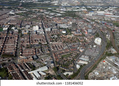 aerial view of Middlesbrough town centre on Teesside