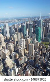 Aerial view of the Midtown (Manhattan, New York City). Vertically.