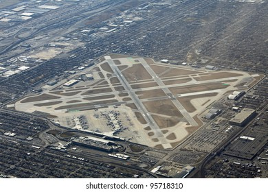 Aerial view of Midway airport in Chicago