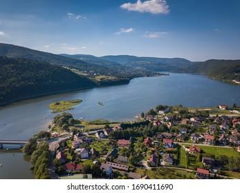 Aerial view of Miedzybrodzie, Silesia, Poland - Shutterstock ID 1690411690