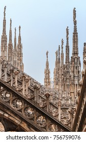 Aerial view of Milan cathedral in Italy