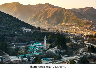 Aerial view of Mingora village in Swat Pakistan