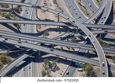 Aerial view of the Mini Stack Interchange