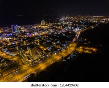 Aerial View of Miri City at Night