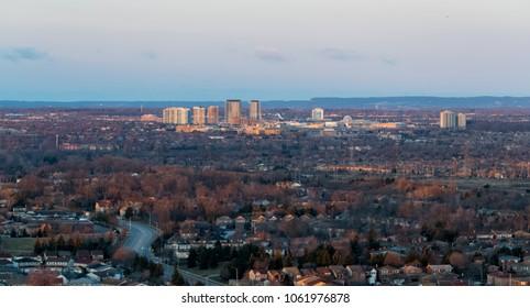 Aerial view of Mississauga Toronto Ontario Canada