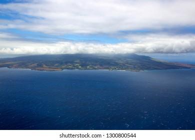 Aerial View of the  Molokai Island , Hawaii, USA