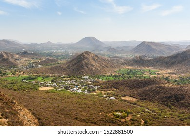 Aerial view from Monsoon Palace. Udaipur. Rajasthan. India