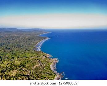 Aerial view from Montezuma Costa Rica