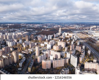 Aerial view of Moscow Khovrino district