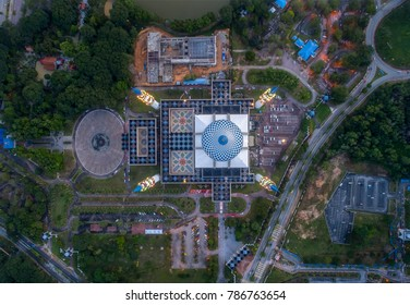 Aerial view of a Mosque view from top