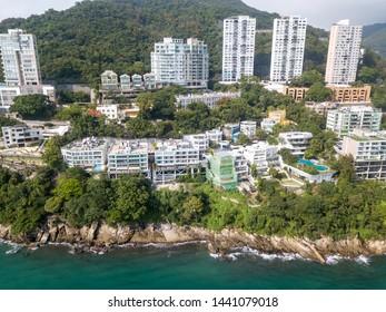 Aerial view of Mount Davis, Western Hong Kong Island