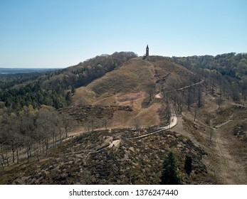 Aerial view of The Mountain of Heaven located between Ry and Silkeborg in Denmark