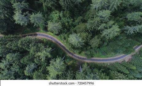 Aerial view of a Mountain road