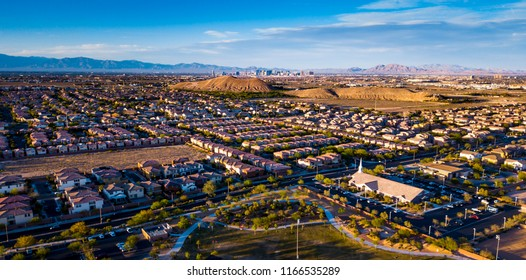 An aerial view of the Mountains Edge master planned community in Enterprise, Nevada.