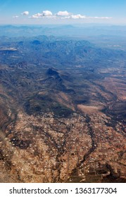 Aerial view of mountains of Tonto National Forest from New River north of Pheonix Arizona