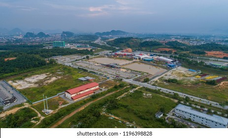 Aerial view of Movie Animation Park (MAPS) in Ipoh, Perak. MAPS Perak is a theme park in Ipoh, Perak offers 40 attractions in 6 themed zones.