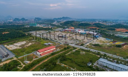 aerial view movie animation park maps stock photo edit now