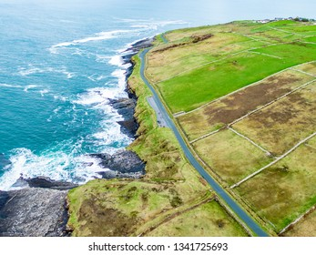Aerial view of Mullaghmore Head - Signature point of the Wild Atlantic Way, County Sligo, Ireland.