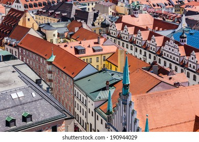 Aerial view of Munich cityscape, Bavaria, Germany