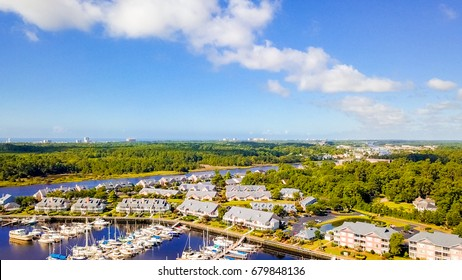 Aerial view of Myrtle Beach, South Carolina.