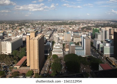 aerial view of nairobi in africa