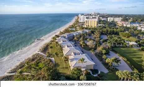 Aerial view of Naples Beach, Florida.