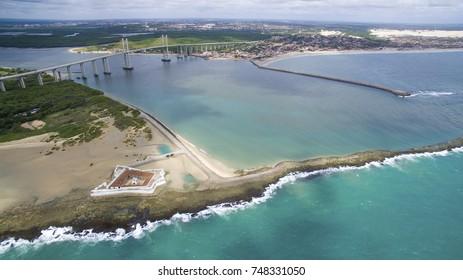 Aerial View of Natal, Rio Grande do Norte, Brazil