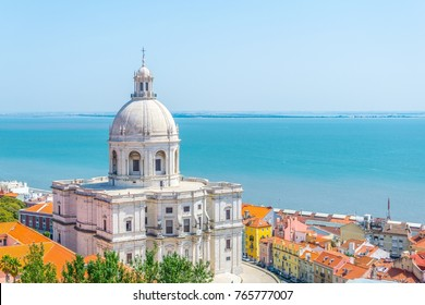 Aerial view of the national pantheon in Lisbon, Portugal