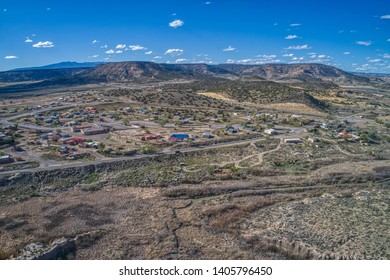 Aerial View of the Native American Village of Laguna, New Mexico