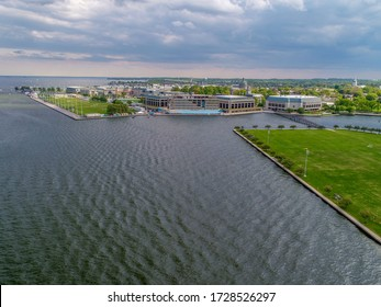 Aerial View of Naval Academy in Annapolis, Maryland