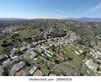 Aerial View of Neighborhood Southern California