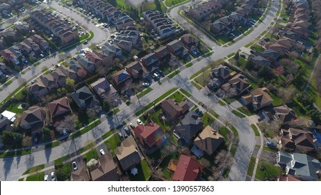 Aerial view of a neighbourhood