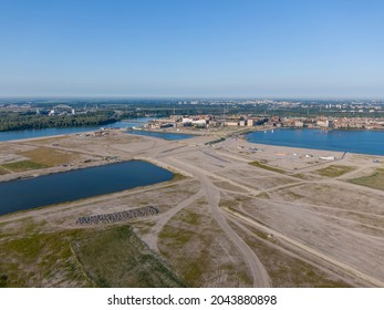 Aerial view of the new artificial islands near IJburg residential district in Amsterdam, Netherlands