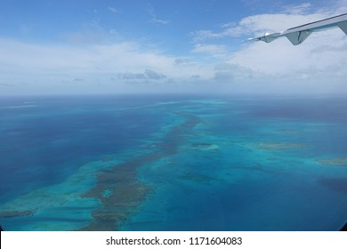 Aerial view of New Caledonia atoll