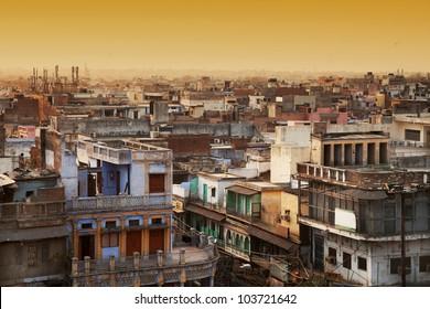 Aerial view of New Delhi, india, Asia