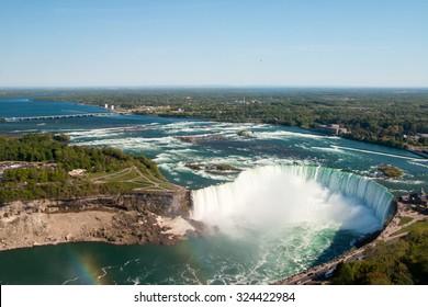 Aerial view of the Niagara Falls.