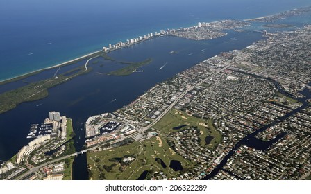 Aerial view of North Palm Beach, Florida