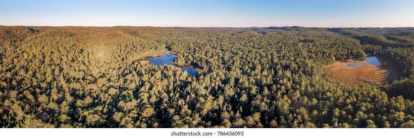 Aerial View Of Northern Ontario Deep Wilderness