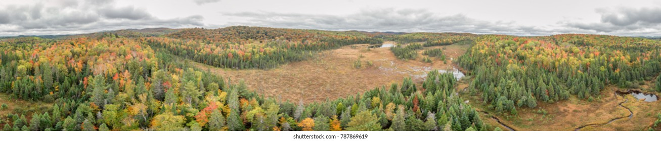 Aerial View Of Northern Ontario Deep Wilderness