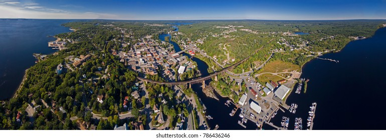Aerial View Northern Ontario Town