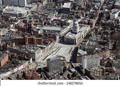 aerial view of Nottingham city centre
