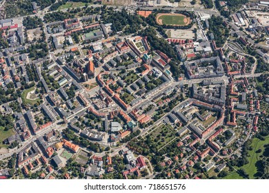 aerial view of the Nysa city in Poland