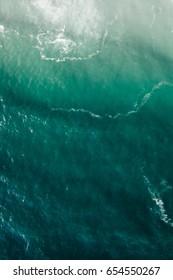 Aerial view of ocean shore