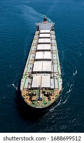Aerial view oil tanker from above image