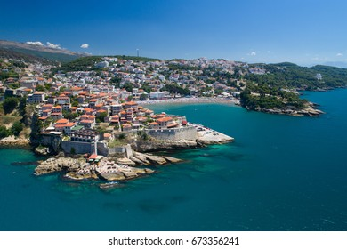 Aerial view of the old city of Ulcinj
