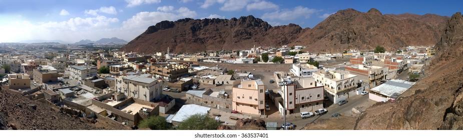 Aerial view of old part of Medina in Saudi Arabia