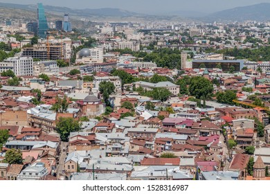 Aerial view of the Old town of Tbilisi, Georgia
