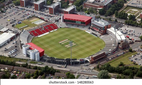 aerial view of Old Trafford cricket ground in Manchester