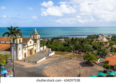 Aerial view of Olinda and Recife skyline - Olinda, Pernambuco, Brazil